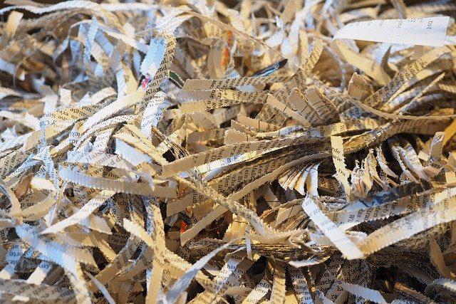 シュレッダーゴミのリサイクル